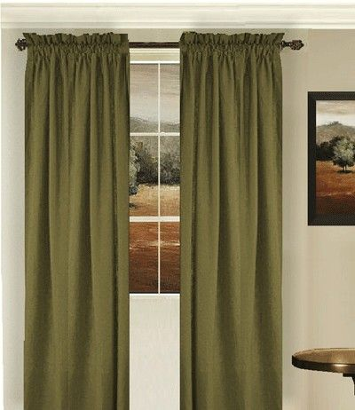 Olive Green Curtains To Go With Our Chocolate Brown Couch