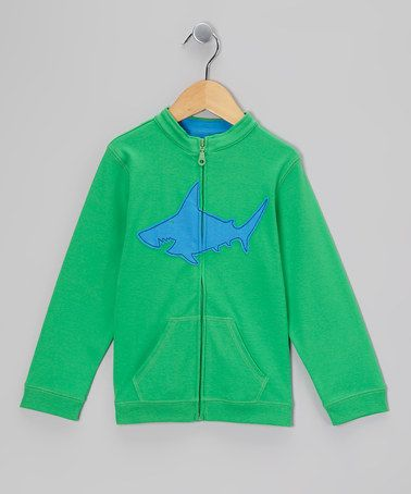 Another great find on #zulily! Green & Blue Shark Sweater - Toddler & Boys #zulilyfinds