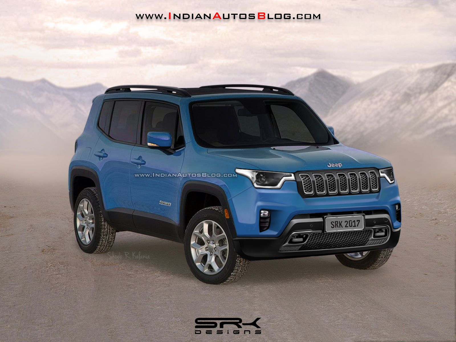 india bound 2018 jeep renegade facelift rendered jeep renegade jeeps and vehicle. Black Bedroom Furniture Sets. Home Design Ideas