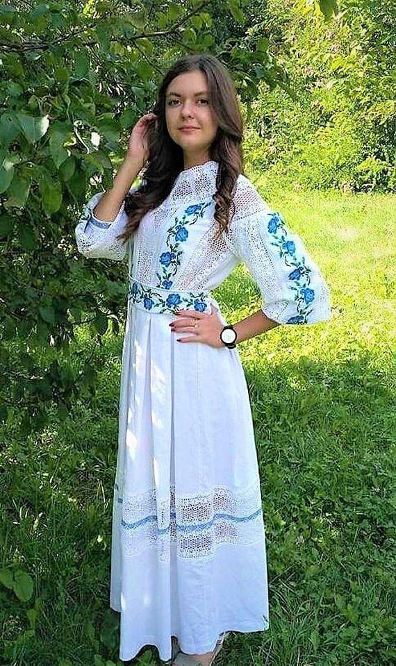e6cf845afb0 Vyshyvanka dress Ukrainian Folk dress Boho Women Dress Flowers Linen Dress  for women s Maxi Dress Uk