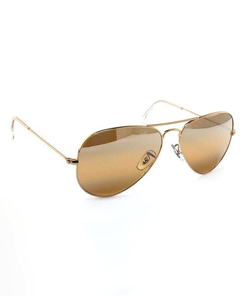 88552a0f67 ... iconic Aviator shades are the ultimate sunny-weather staple. A yellow  gradient mirror lens updates the classic style of this fashion favorite.