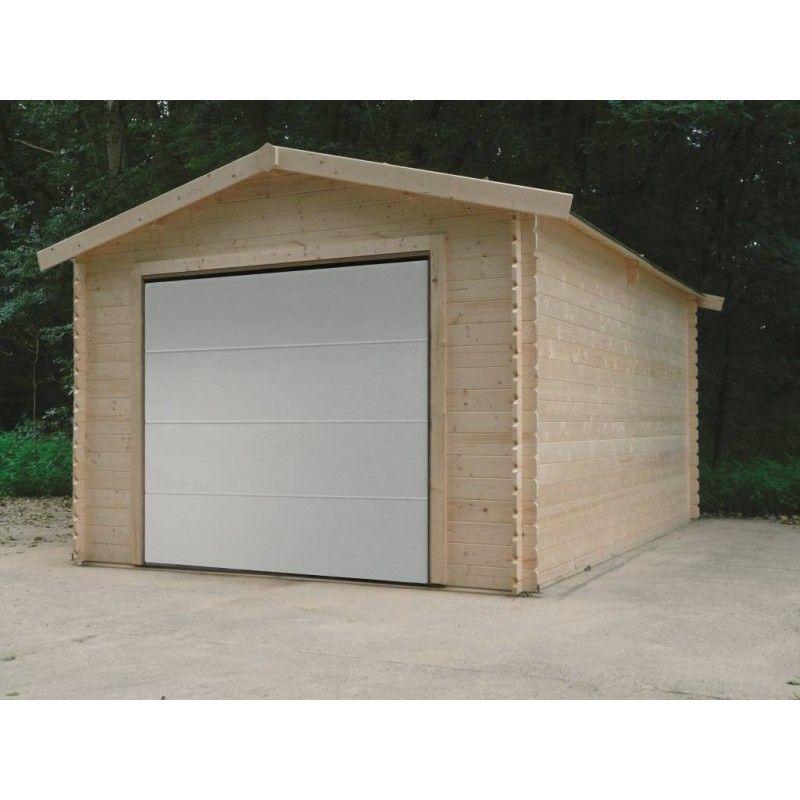 Garage en Bois de 16.20 m² avec porte sectionnelle
