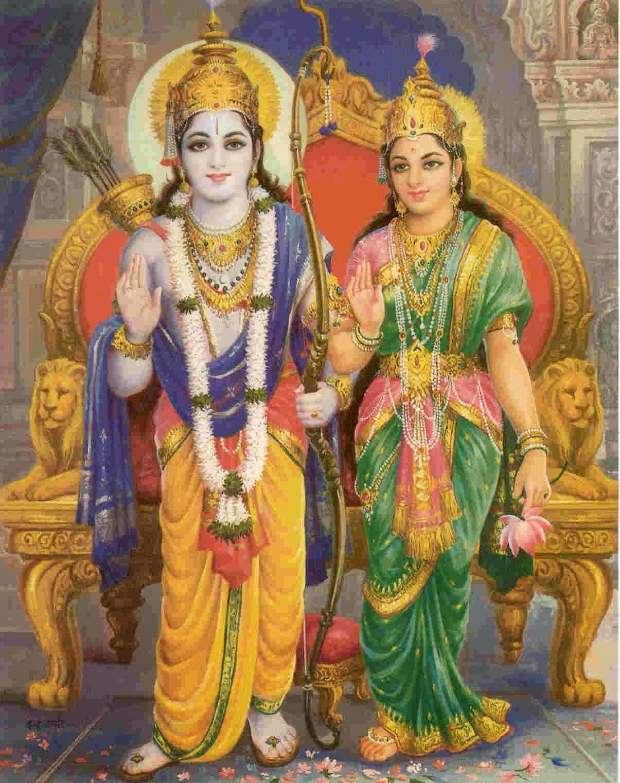 Rama Sita Hd Wallpaper Download Lord Shri Ram And Sita
