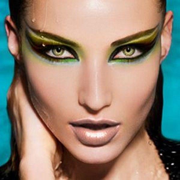 Shades of green cat eyes Eyes Pinterest Cat eyes, Eye and Makeup - cat halloween makeup ideas