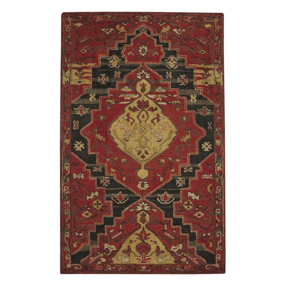 Tollan Red 9 ft. 6 in. x 13 ft. 6 in. Area Rug