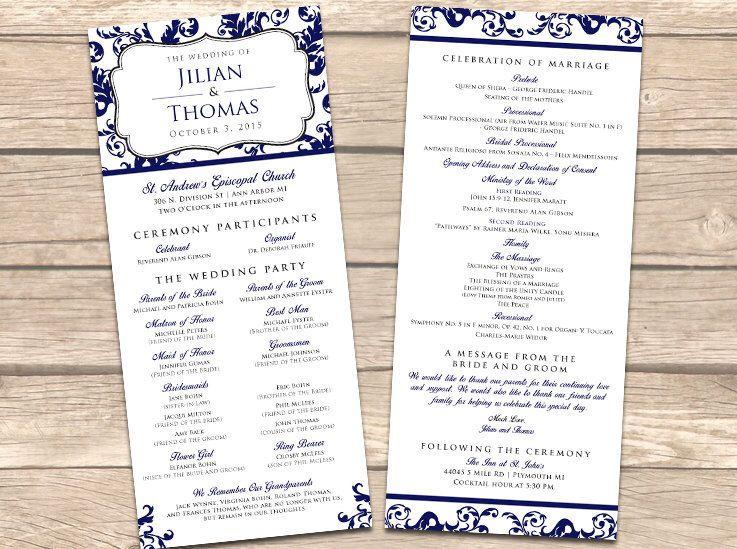 Custom Two Sided Wedding Ceremony Program Set Of 25 Wedding Program Ceremony Program Wedding Wedding Programs Wedding Ceremony Programs Wedding Ceremony