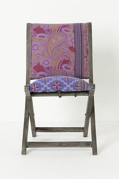 Over-dyed Terai Chair, Purple eclectic-chairs
