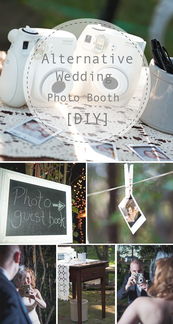 Diy Alternative Wedding Photo Booth Fun Guest Book Idea And