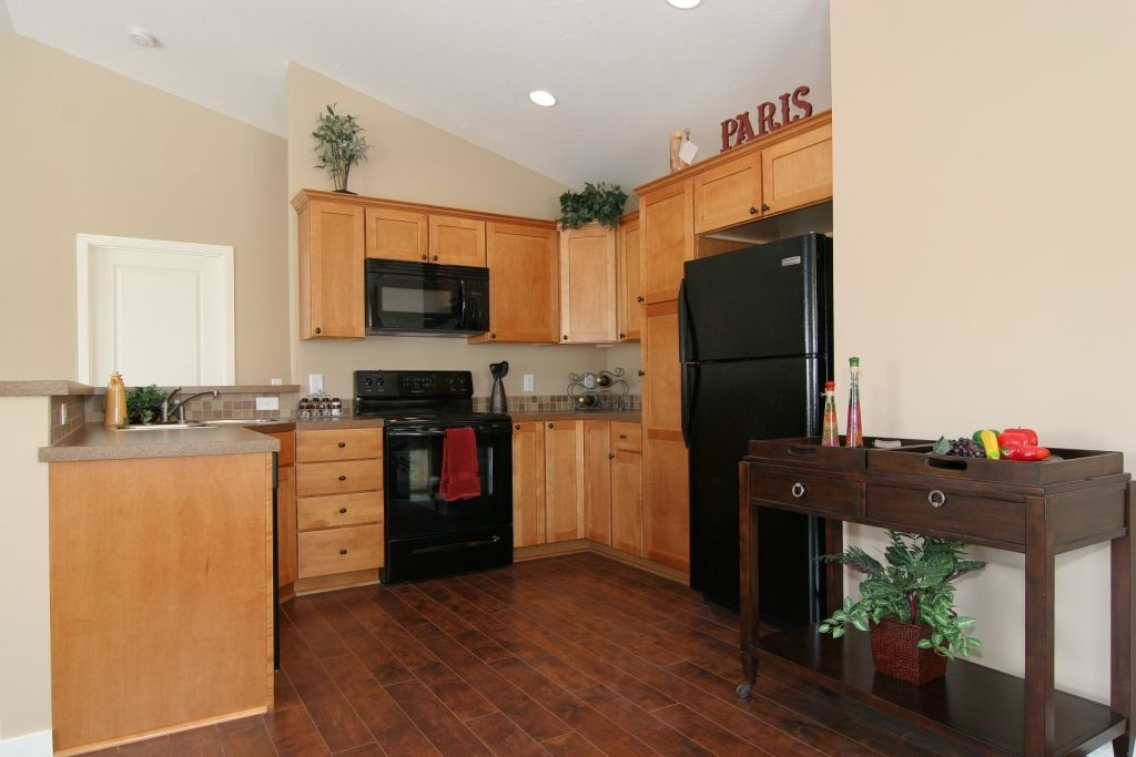 I want dark hardwood floors but have light cabinets it for Hardwood floors kitchen