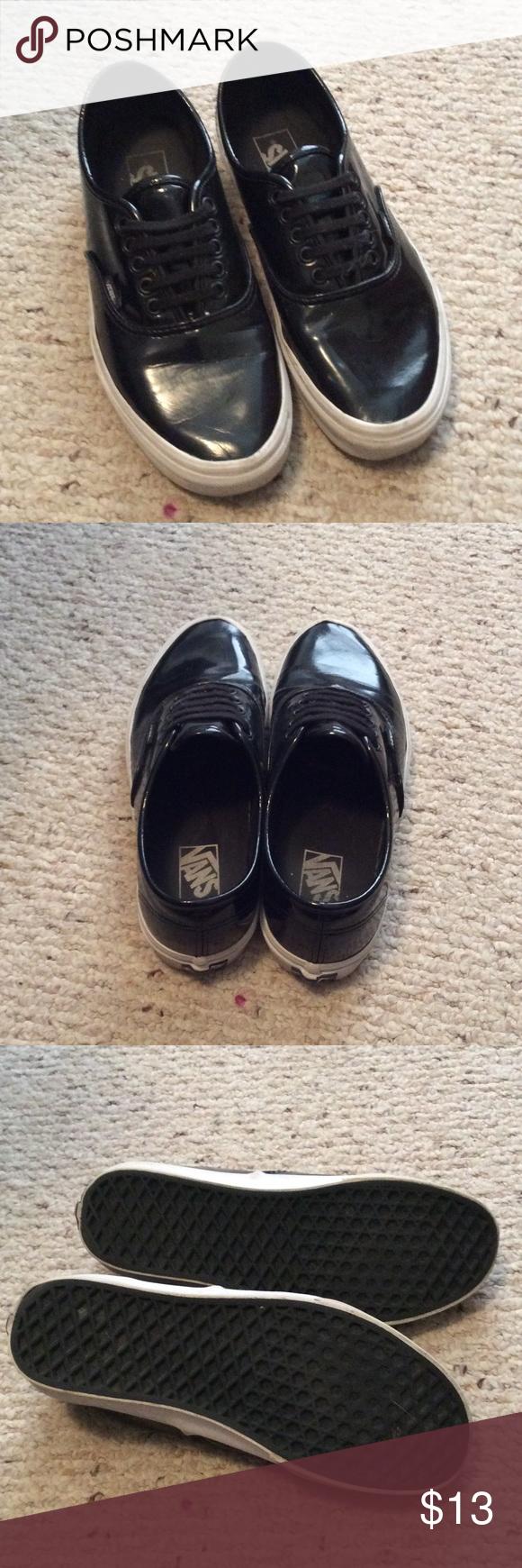 Shiny Vans 9.5 Has been worn regularly. Vans Shoes Sneakers