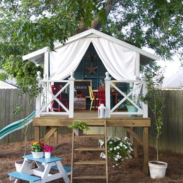 Sur pilotis Cabane de jardin, Cabanes et Marie claire idées