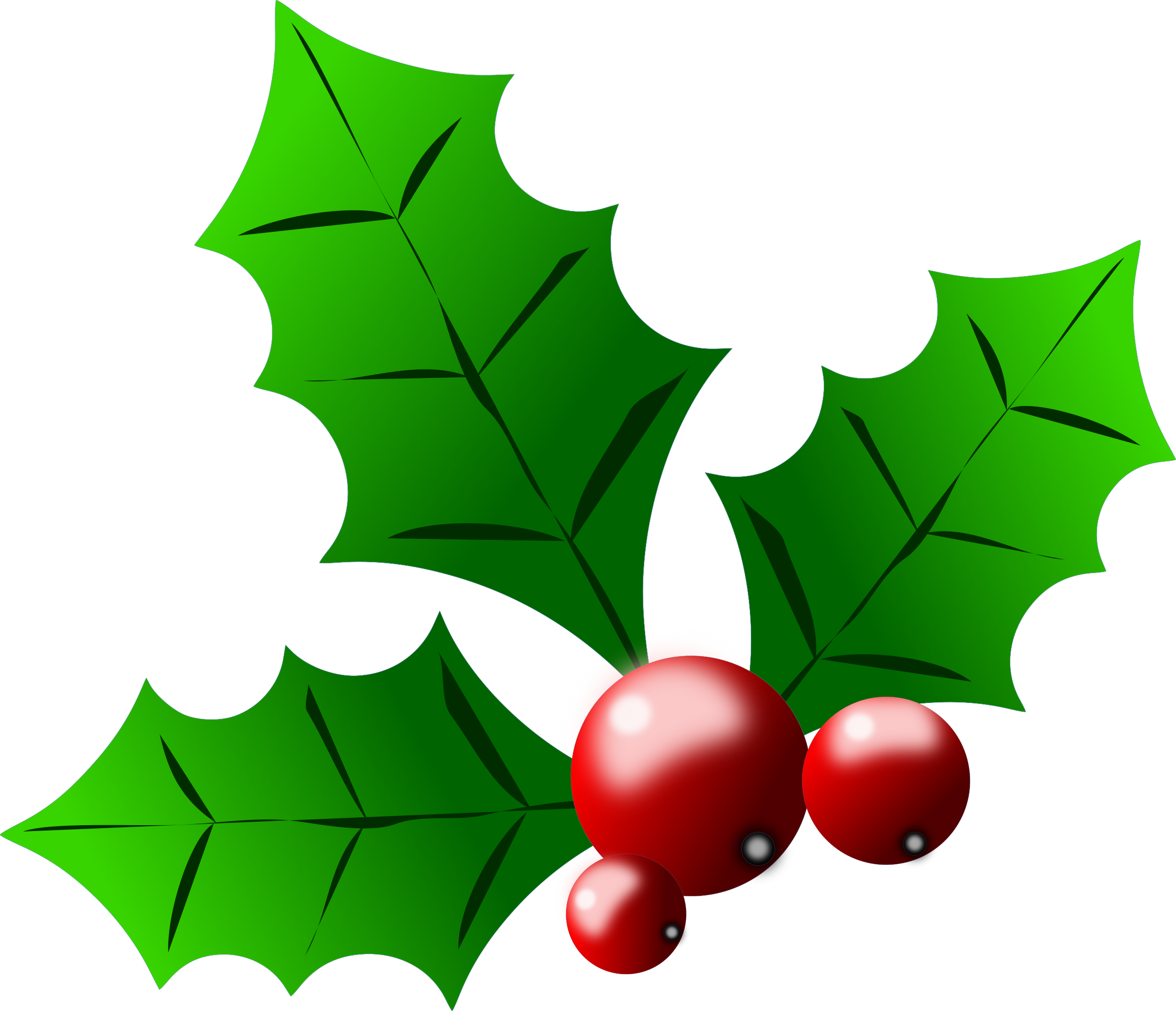 Holly Berries By Almeidah A Stylized Drawing Of Leaves And Berries Of A Holly Ideal For Graphi Christmas Clipart Free Christmas Holly Images Christmas Holly