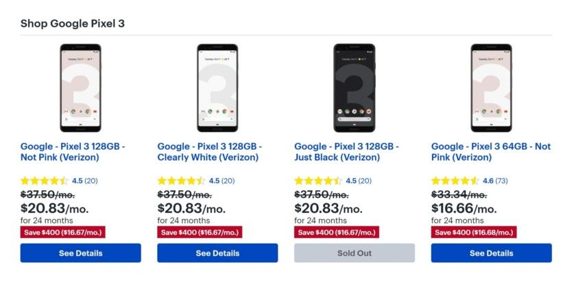 Deal Get Google Pixel 3 Verizon For Epic 400 Off At Best Buy Google Android Smartphones Os News Androidnews Follo Google Pixel Cool Things To Buy Pixel