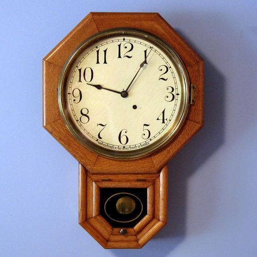 Antique Seth Thomas Schoolhouse 8 Day Regulator Wall Clock Tim