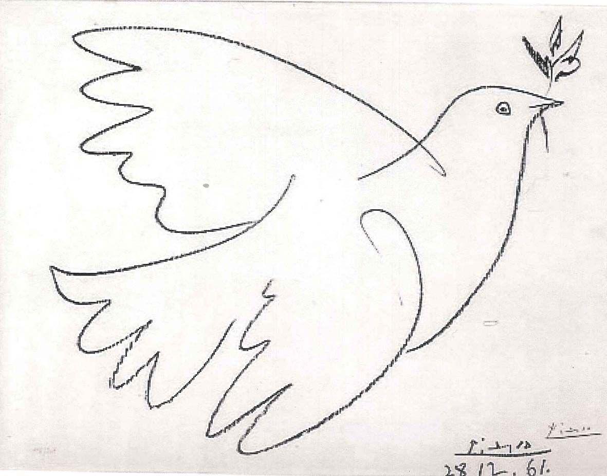 Pablo Picasso Taube mit Olivenzweig 28 Dezember 1961 Courtesy