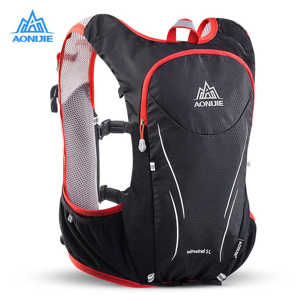 c9e3f62c26 AONIJIE E906S 5L Upgraded Outdoor Running Bag Backpacks Marathon Reflective  Hiking Cycling Backpack Hydration Vest Pack 2 Colors