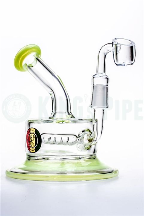 KING's Pipe Glass - Inline Perc FAT CAN Dab Rig | Bongs