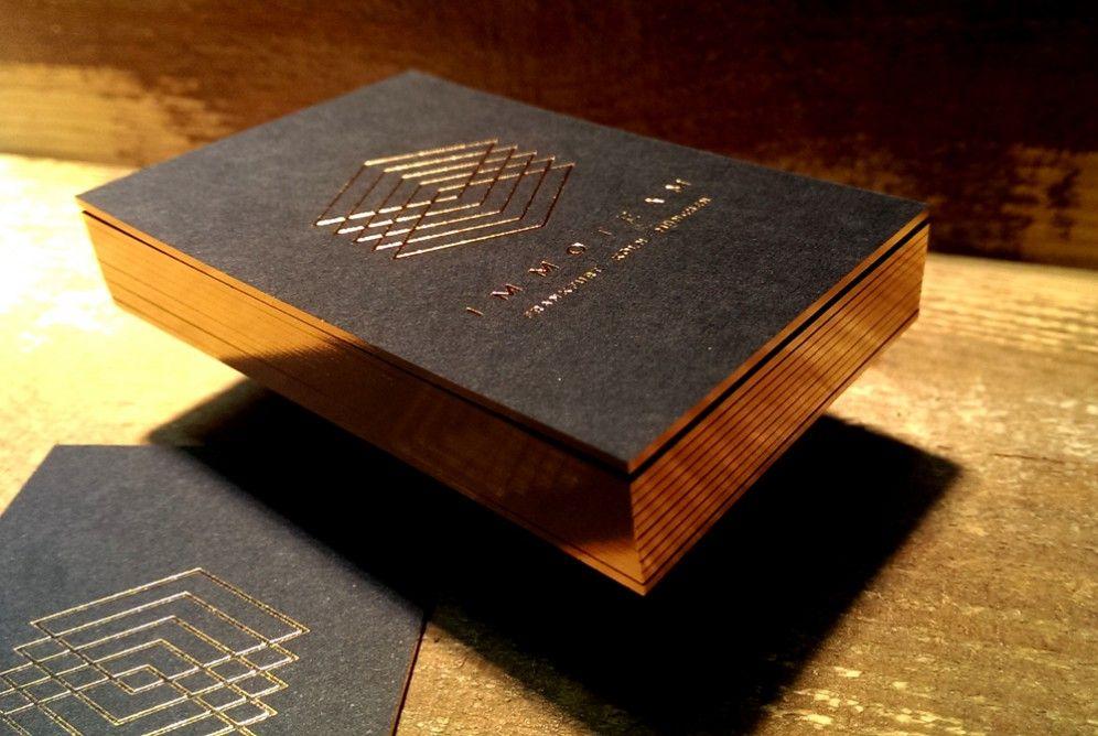 Folienschnitt In Kupfer Schnittchen Folie Und Visitenkarten