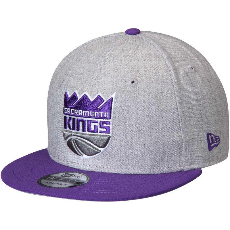 Sacramento Kings New Era 2 Tone 9fifty Adjustable Snapback Hat Heathered Gray Purple Sacramento Kings Snapback Hats New Era