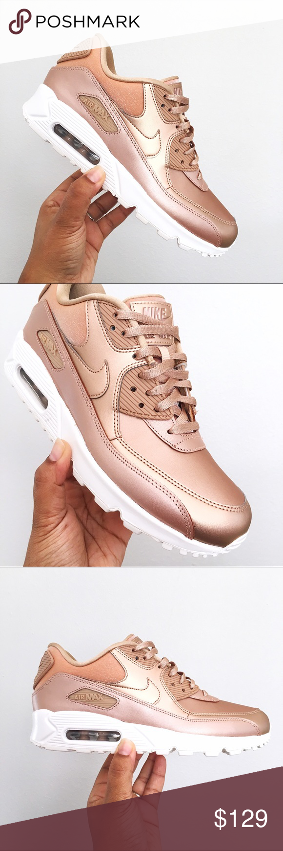 Nike Air Max 90 PRM Metallic Red Bronze Women 8.5 Brand New