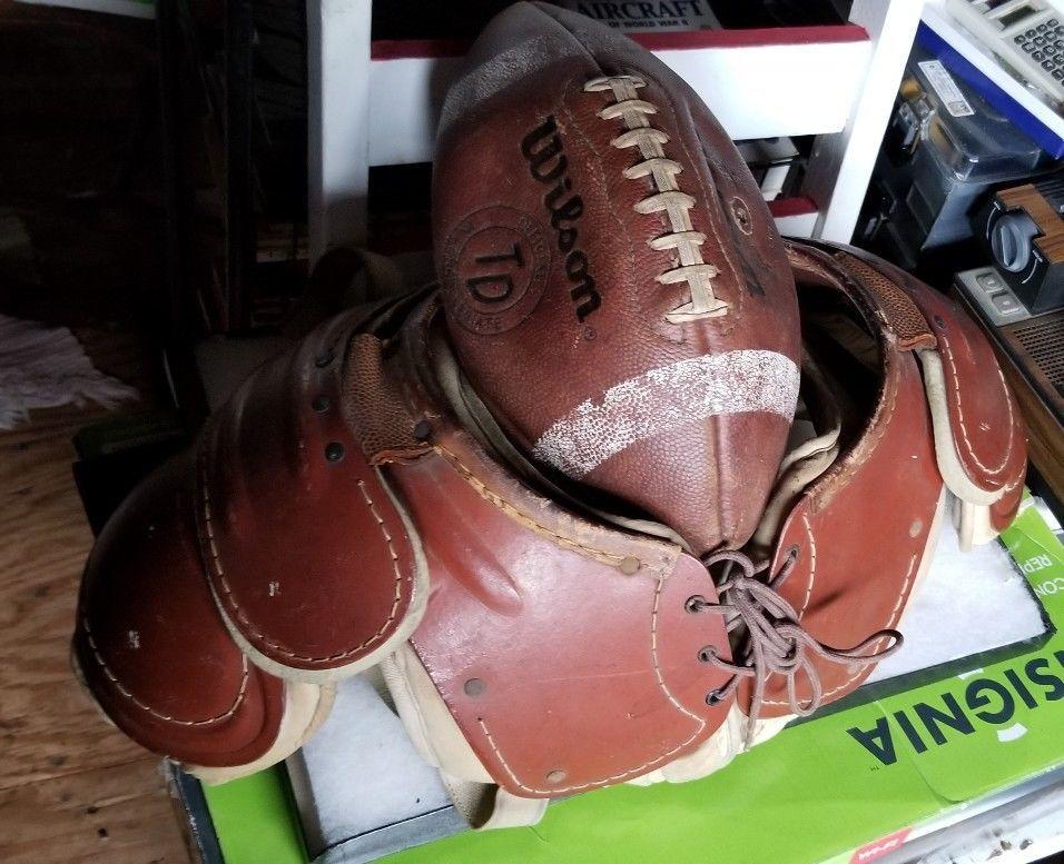 Early old vintage football wilson shoulder pads d141n