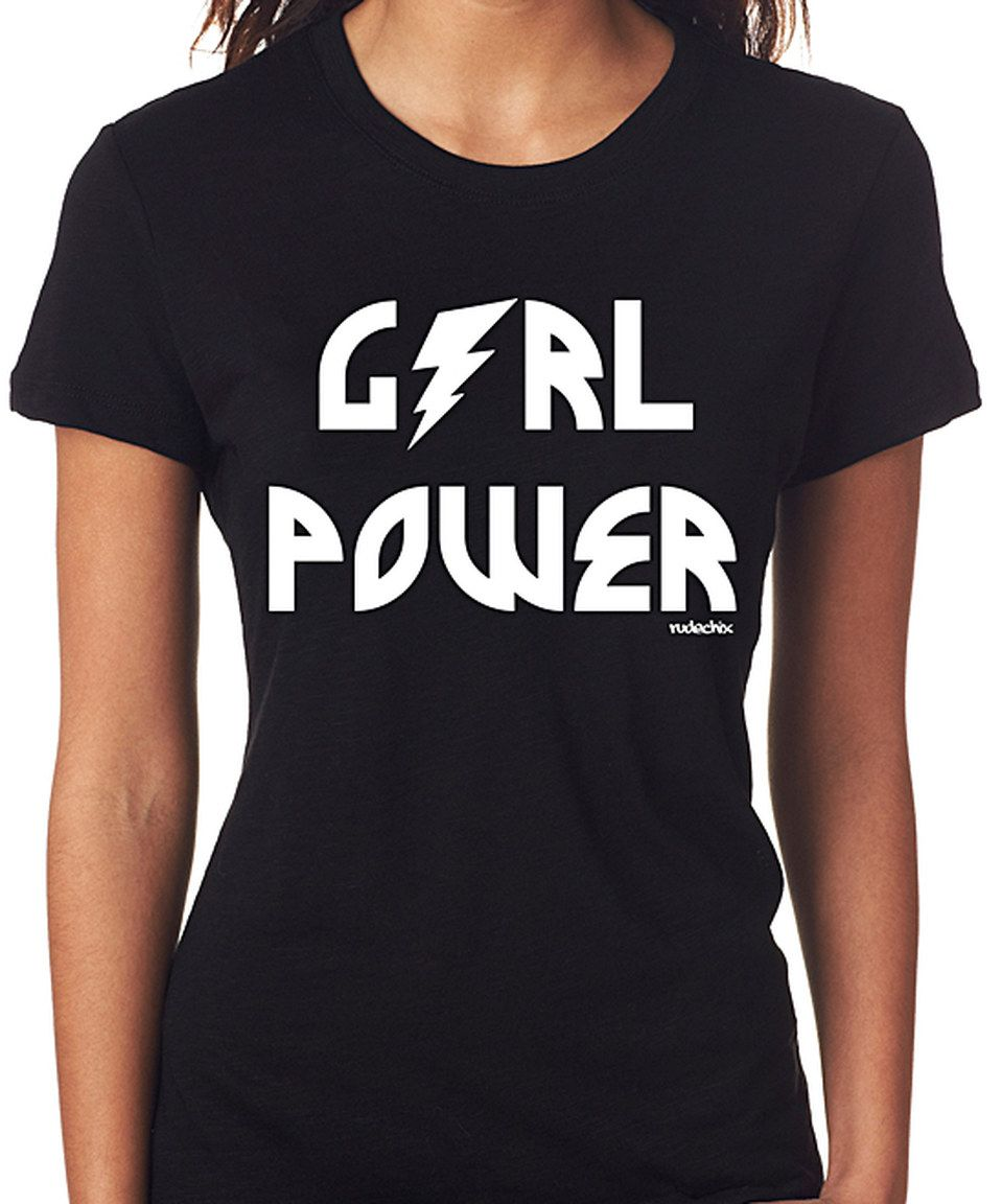 Another great find on #zulily! Black 'Girl Power' Tee by RudeChix #zulilyfinds