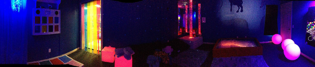 More of our sensory room... we aren't done yet either. We have some panels coming in that the kiddos will LOVE!!