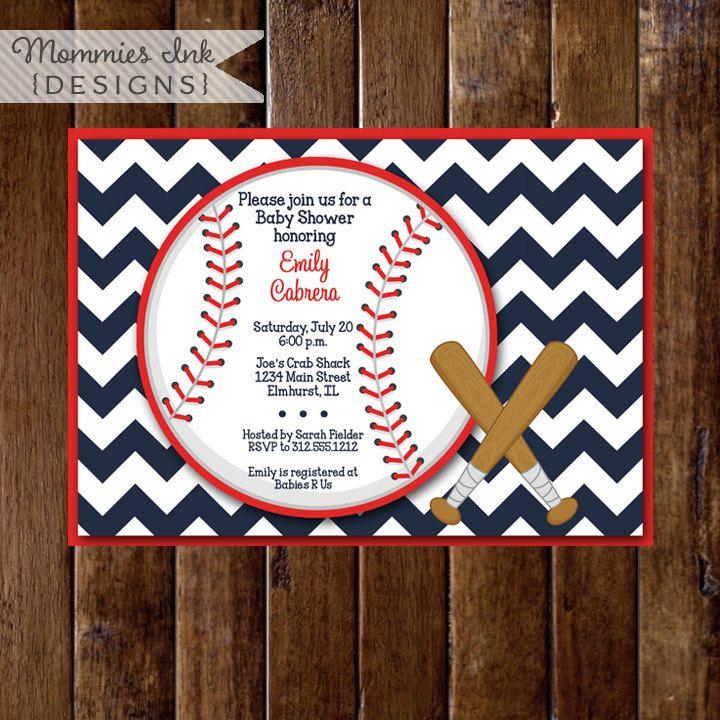 baseball theme invitations