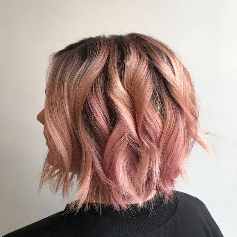 Hair Color Landing Page Short Hair Color Pink Short Hair Rose Gold Short Hair