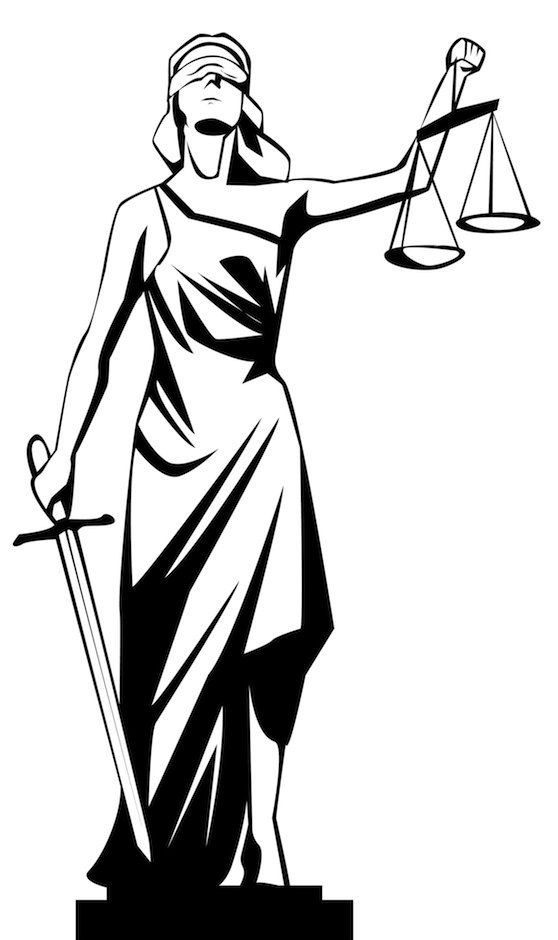 Lady Justice Also Commonly Know As Justitia Has Important