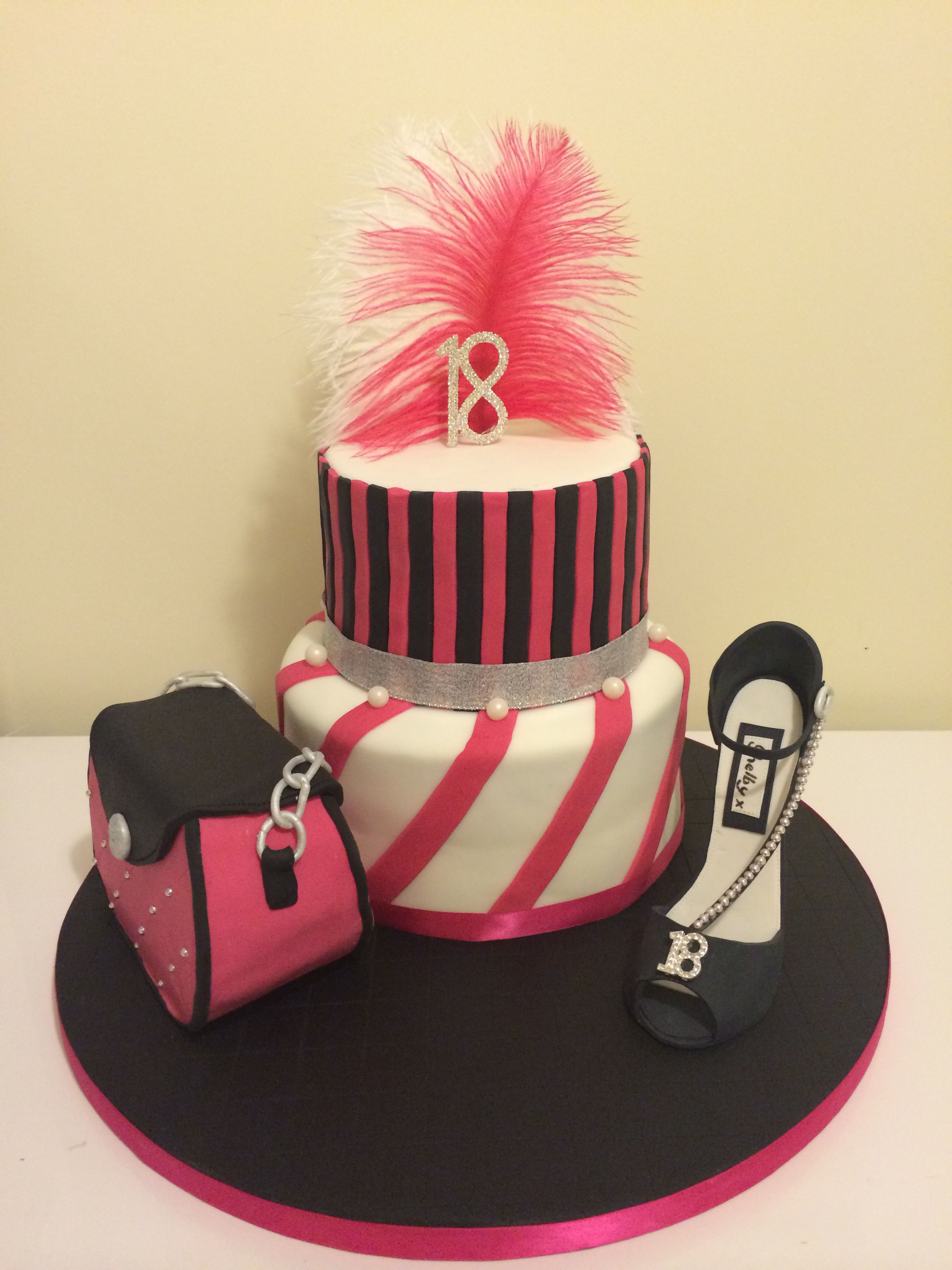 Another shoe and handbag cake I've made recently