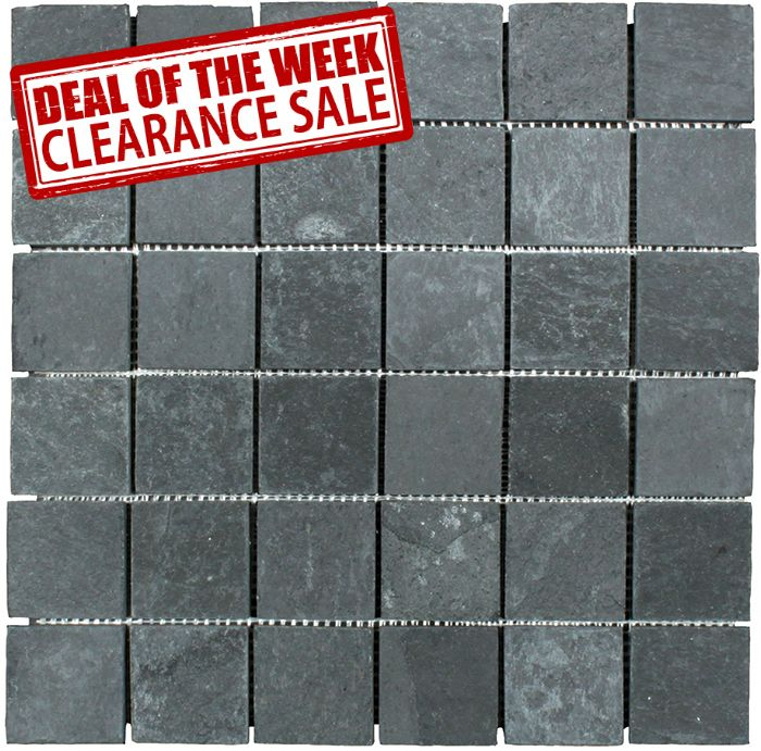 Discount Glass Tile Store Slate Tile Black X Mosaic - Clearance floor tiles for sale