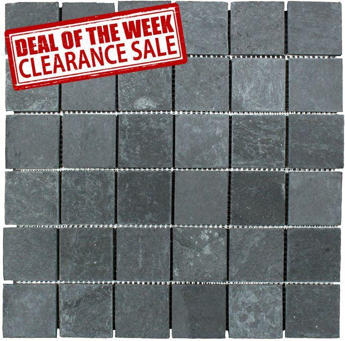 Discount Glass Tile Store - Slate Tile - Black 2\