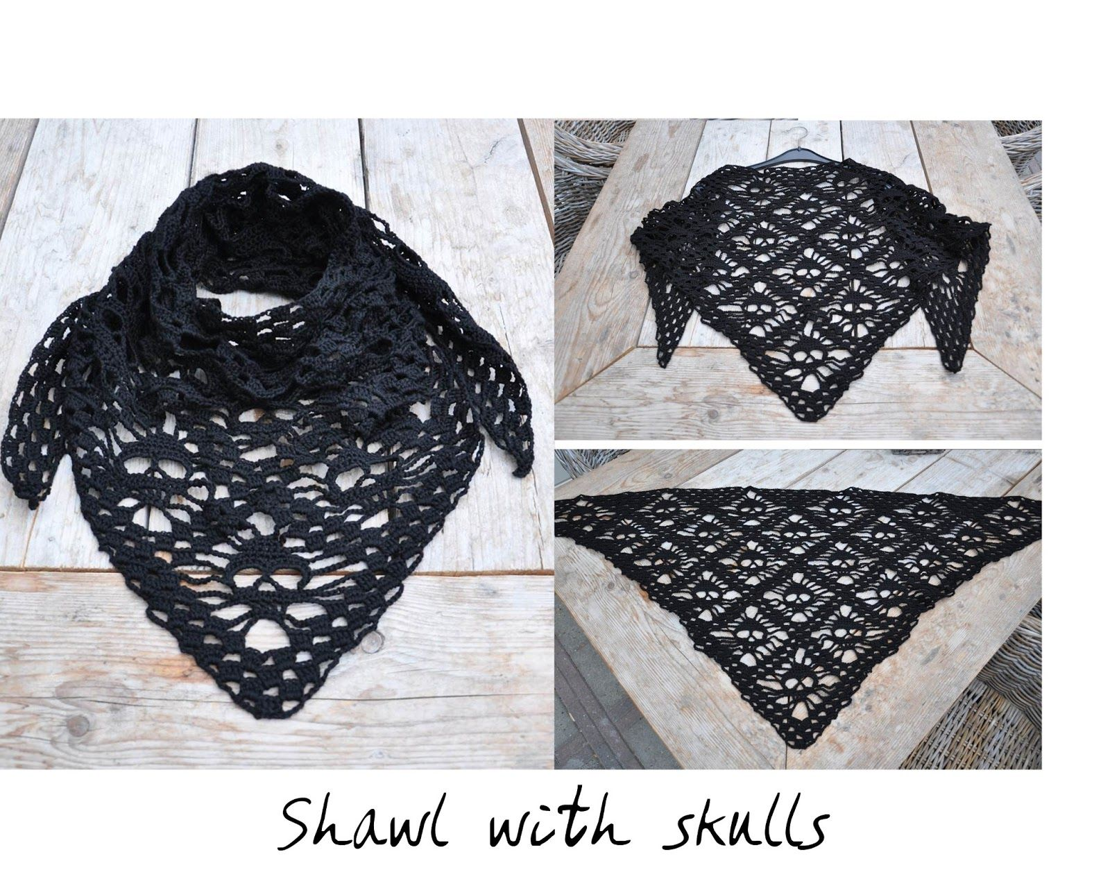 skulls shawl from Kungen & majkis with link to pattern and ...