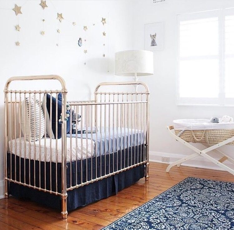 Baby Boys Nursery With Rose Gold Incy Cot Gold Crib Nursery
