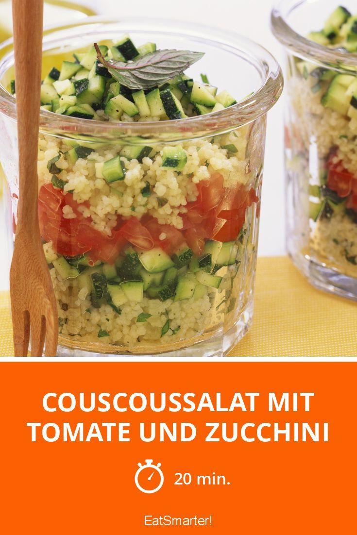 Couscoussalat mit Tomate und Zucchini | Rezept | Kühlschrank, Das ...