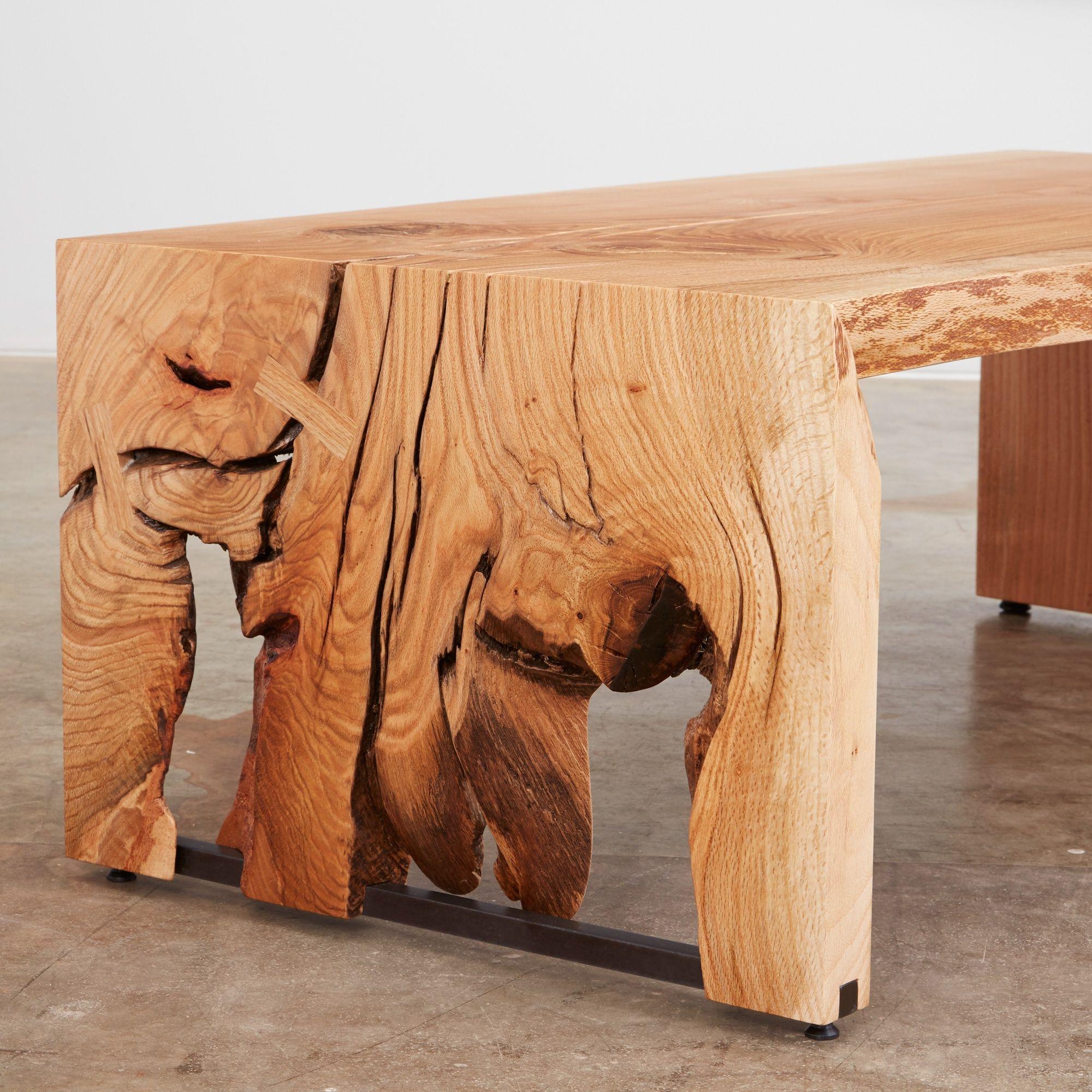 An Oak Single Slab Bi Fold Coffee Table We Salvaged This