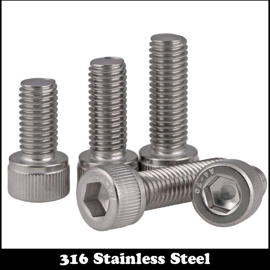 12mm M12 Allen Hex Socket Bolt Cap Head Screws Stainless Steel Metric DIN912