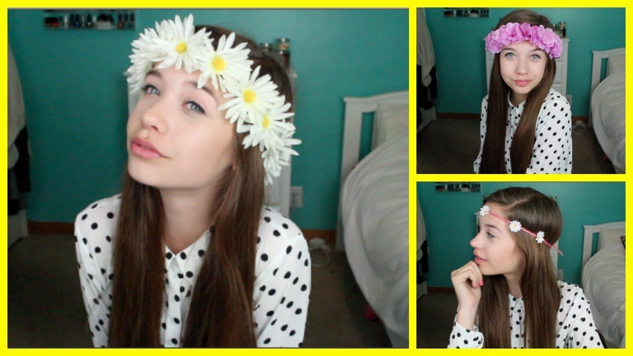 Diy flower crownheadband via youtube diy projects to try diy flower crownheadband izmirmasajfo Choice Image