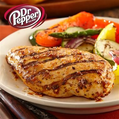 Dr. Pepper Marinaded Grilled Chicken: Sweet & smoky flavor! For my John!