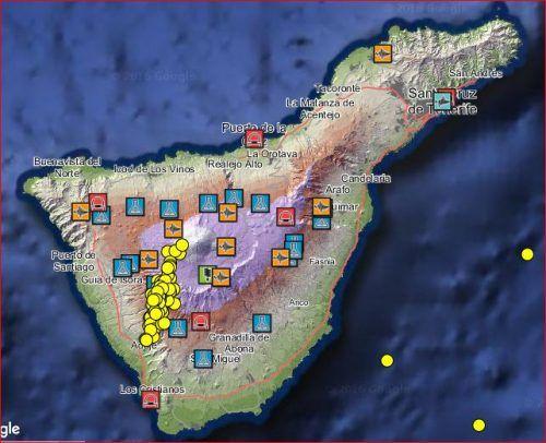 Un enjambre de más de 90 pequeños terremotos golpeó el volcán Teide - http://www.infouno.cl/un-enjambre-de-mas-de-90-pequenos-terremotos-golpeo-el-volcan-teide/