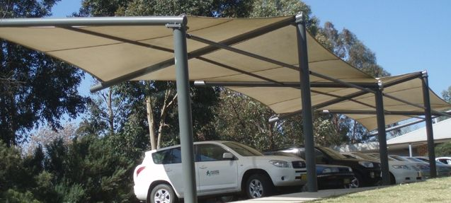 Polytex Shade Sails For Car Parking Parking Lot Outdoor Shade Outdoor Structure Carport Shade