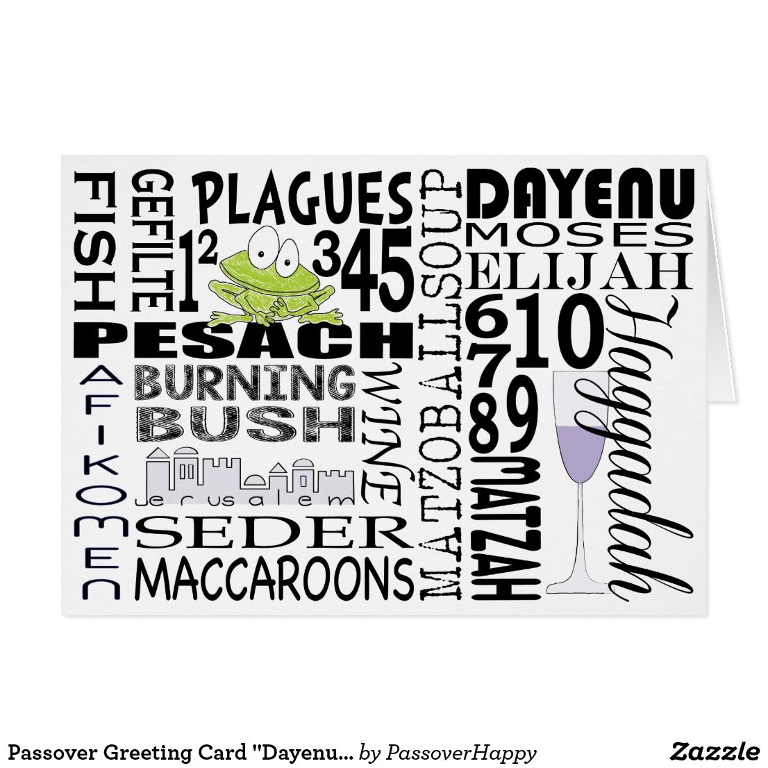 Passover Greeting Card Dayenu And More Pinterest Passover
