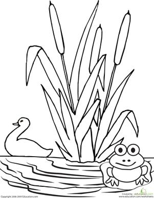 color the pond that 39 s clever pond frogs preschool duck pond. Black Bedroom Furniture Sets. Home Design Ideas