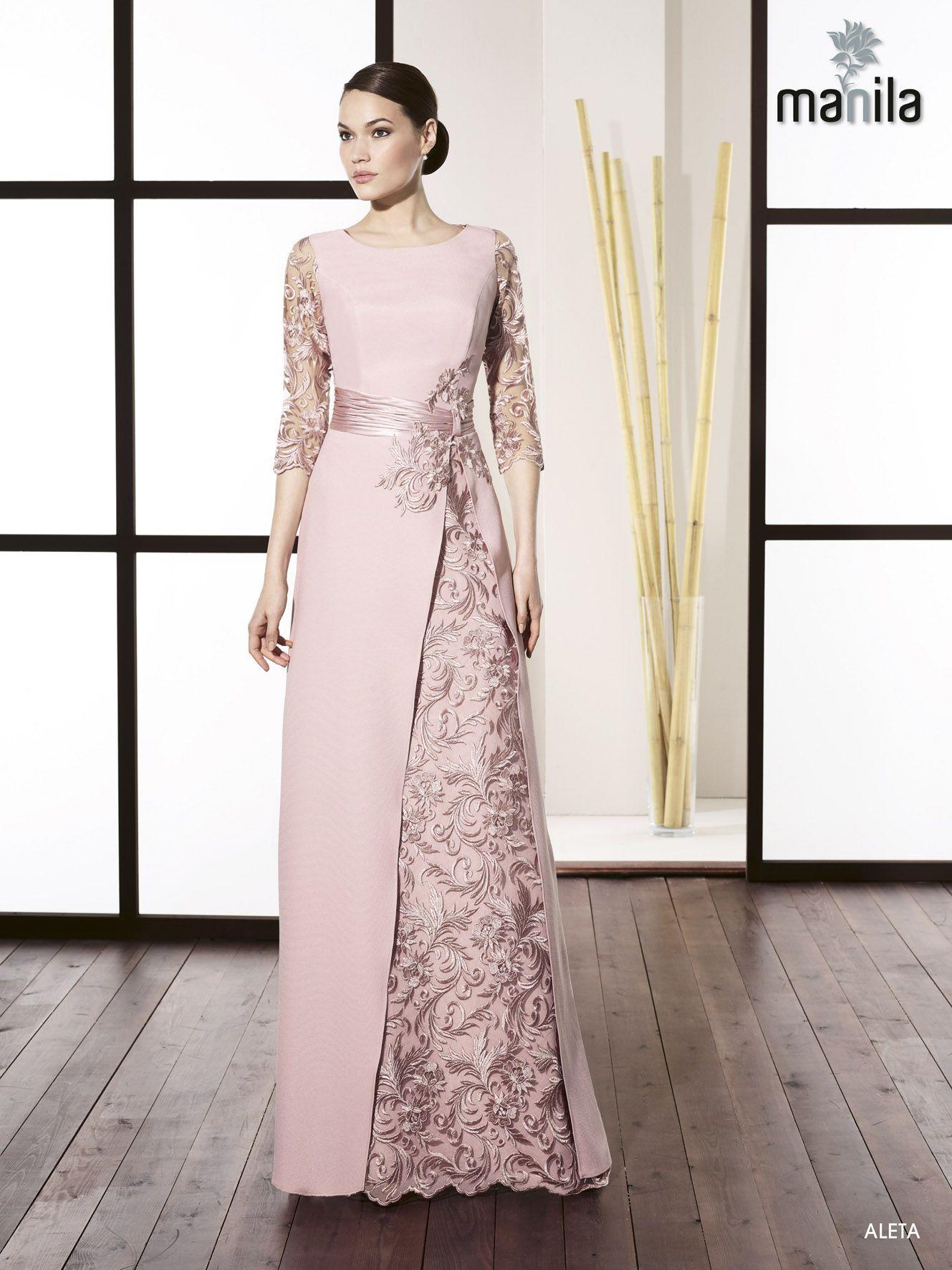 Vestido de fiesta colección avaguel Áo váy