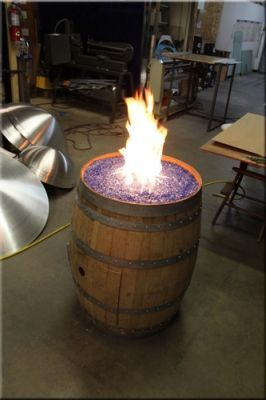 Photo of Convert a wine barrel into a safe outdoor firepit.