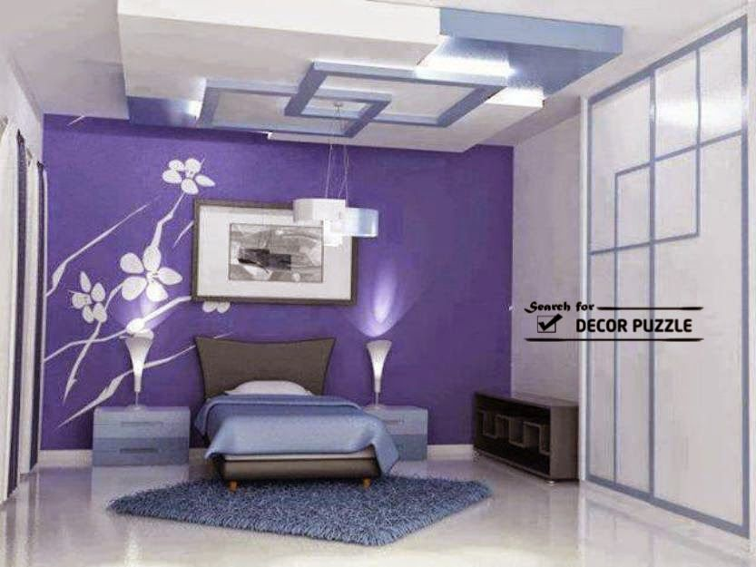 gypsum board designs false ceiling design for bedroom plan1