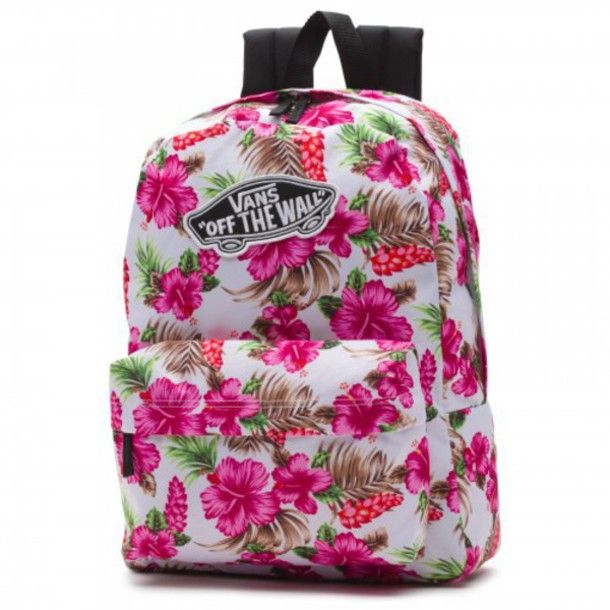 vans off the wall backpack floral