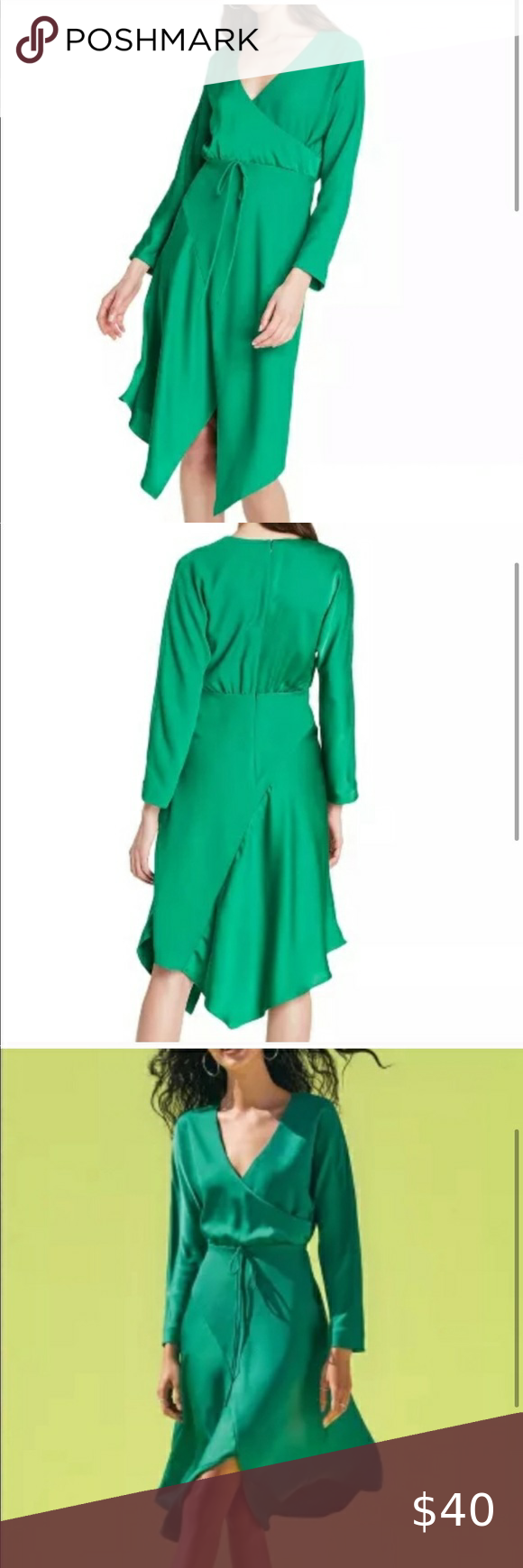 Nwt Cushnie X Target Green Wrap Dress Green Wrap Dress Wrap Dress Dresses [ 1740 x 580 Pixel ]