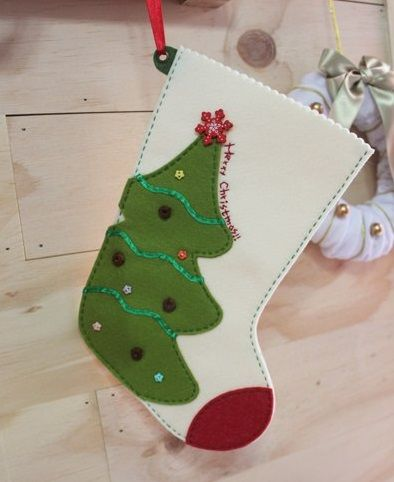 cute felt christmas stockings part botas navideas grandes